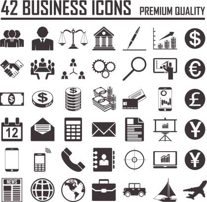 42 Business icons set. Premium Quality