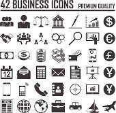 42 Business icons set. Premium Quality