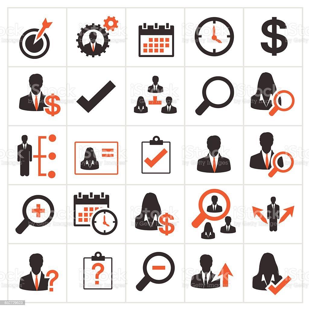 Conjunto de ícones de negócios - ilustração de arte em vetor