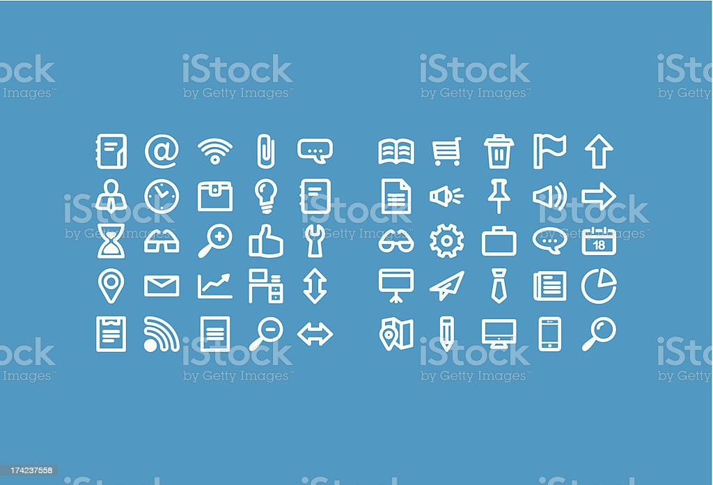 Business Icons Set - Web & Stationary royalty-free business icons set web stationary stock vector art & more images of business