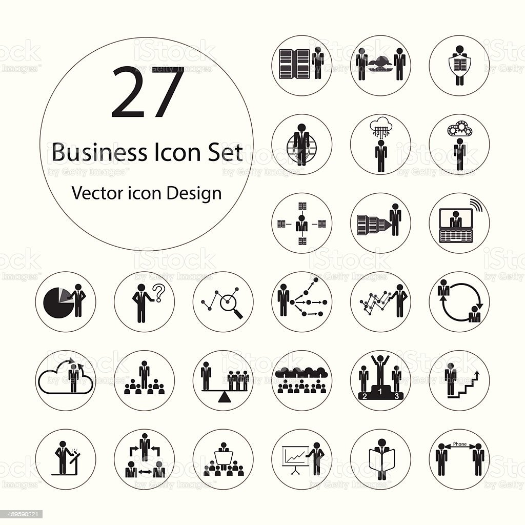 Business icons set.Vector illustration. vector art illustration