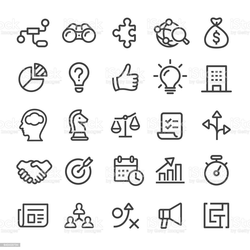 Business Icons - Smart Line Series vector art illustration