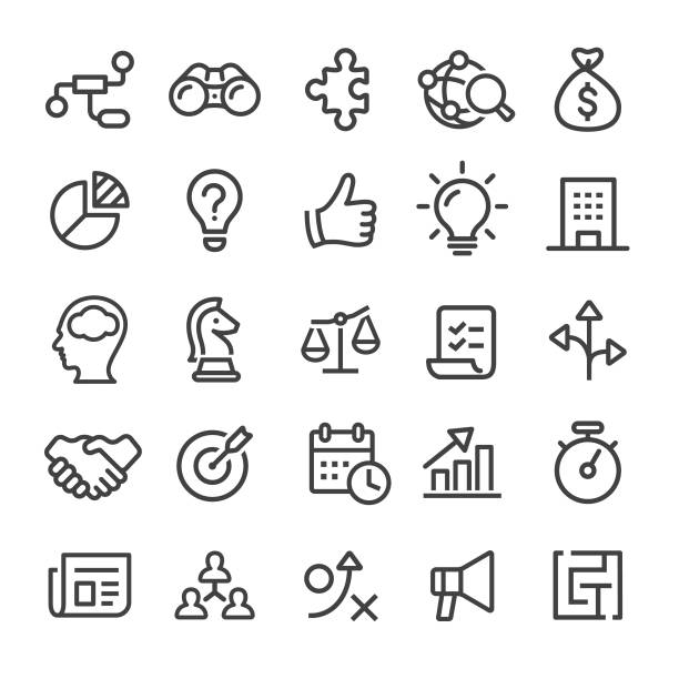 business icons - serie smart line - balance stock-grafiken, -clipart, -cartoons und -symbole