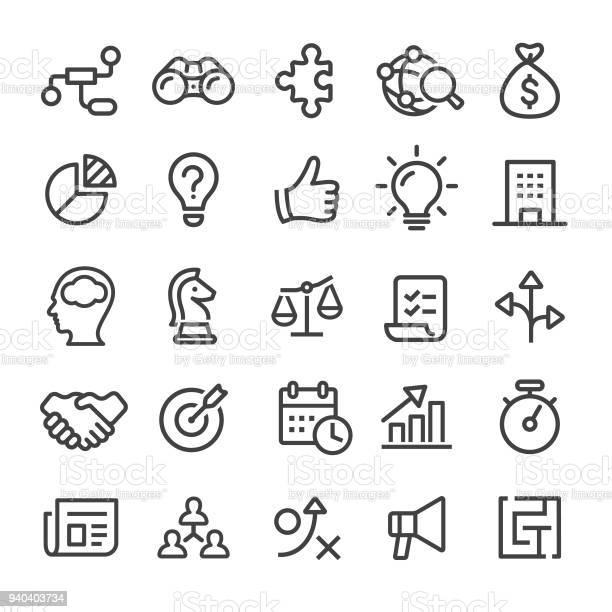 Business Icons Smart Line Series — стоковая векторная графика и другие изображения на тему Бизнес