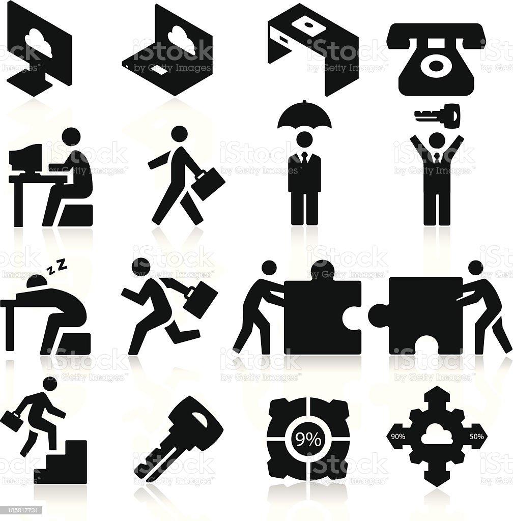 Business Icons three vector art illustration