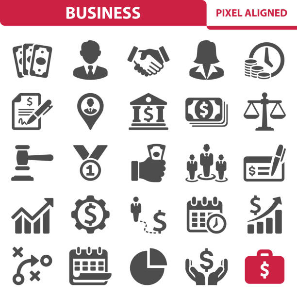business icons - bank stock illustrations