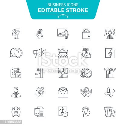 Improvement, Wealth, Analyzing, Human Hand, Meeting, USA, Editable Icon Set