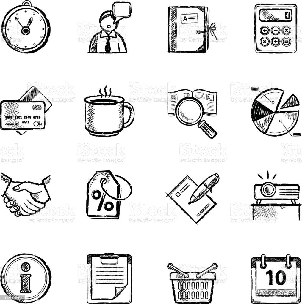 Business icons – Vektorgrafik