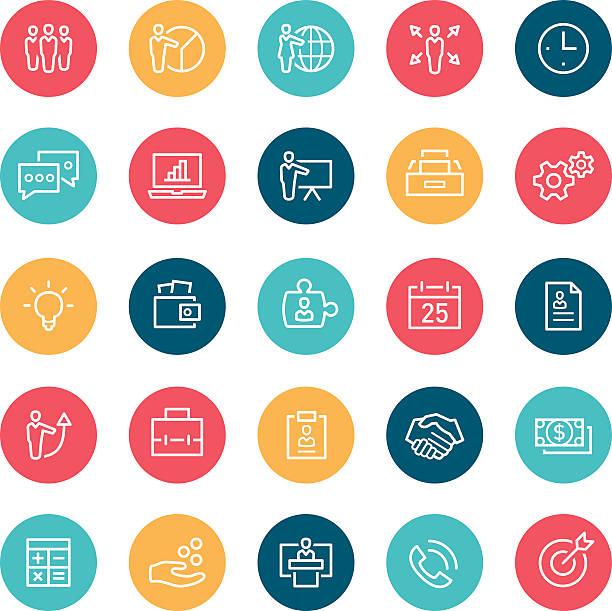 ビジネスアイコン - トレーニングのカレンダー点のイラスト素材/クリップアート素材/マンガ素材/アイコン素材