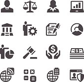 Set of 16 Business simple vector icons. Easy resize.