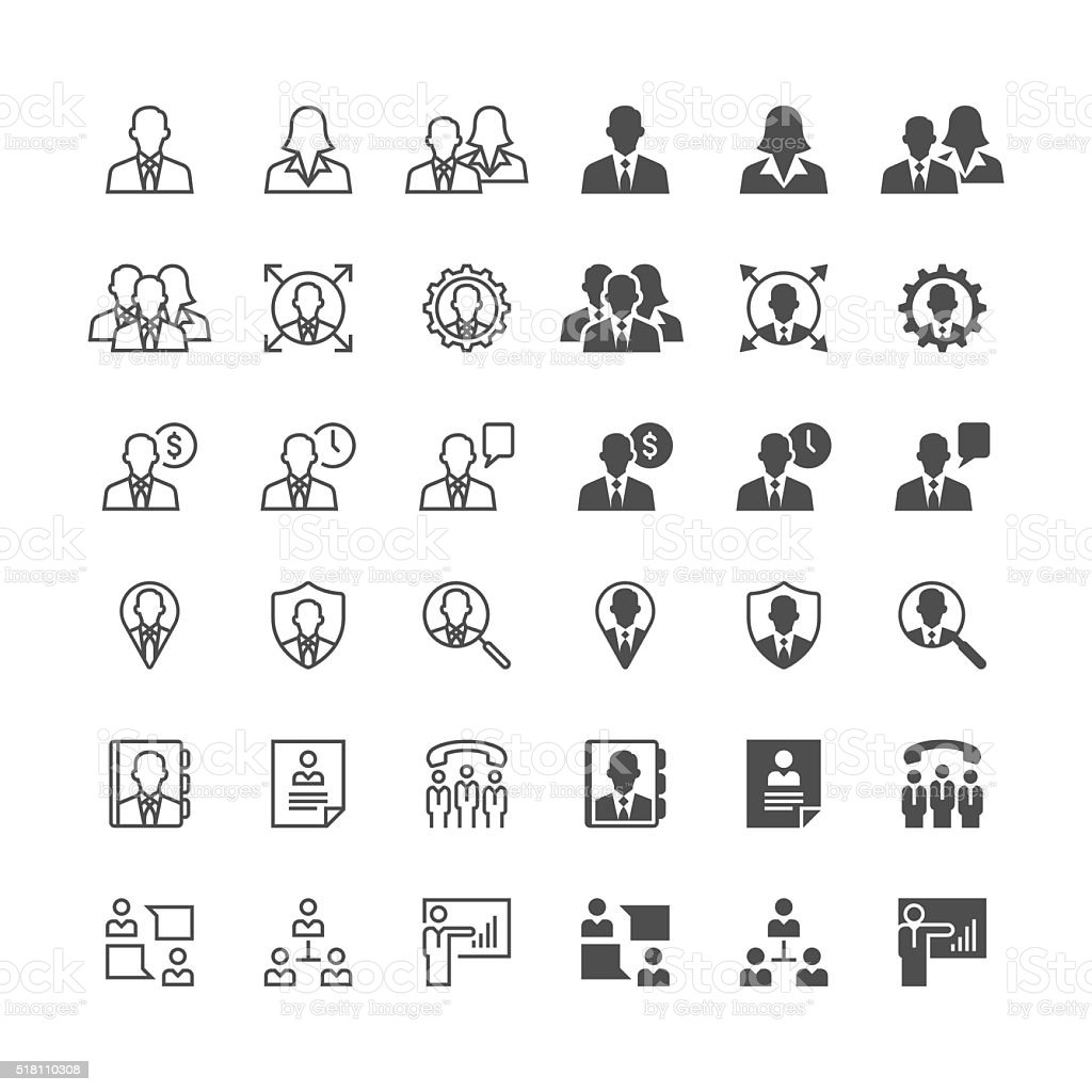 Business icons – Vektorgrafik