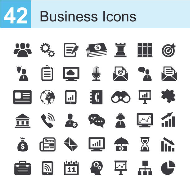 royalty free business icons clip art vector images illustrations