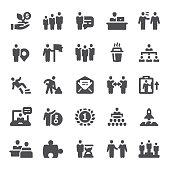 Business, finance, human resources, icon, teamwork, people, organization, icon set