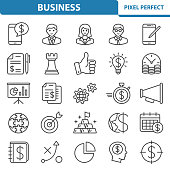 Professional, pixel perfect icons depicting various business, investment and finance concepts.