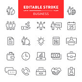 Business, finance, team building,  teamwork, office, organization, editable stroke, icon, icon set, CV, outline