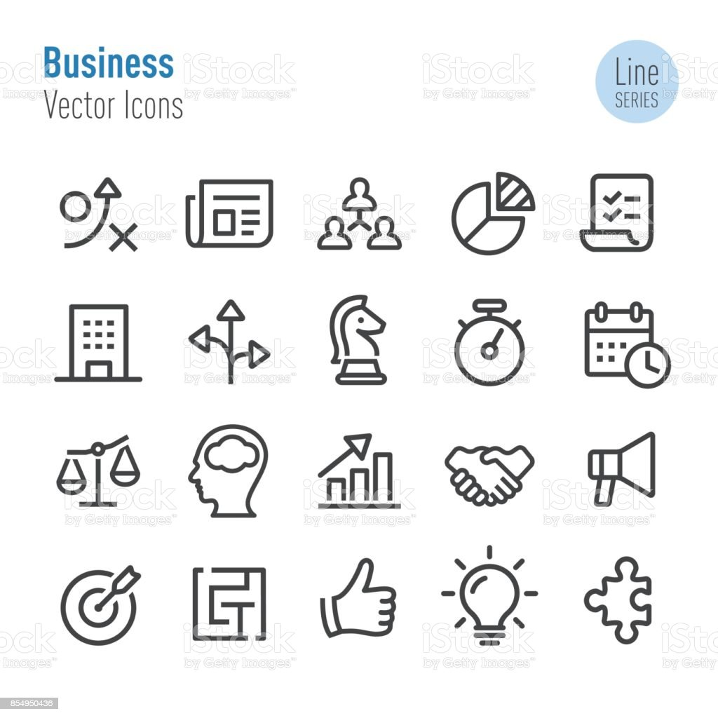 Business Icons - Vector Line Series vector art illustration