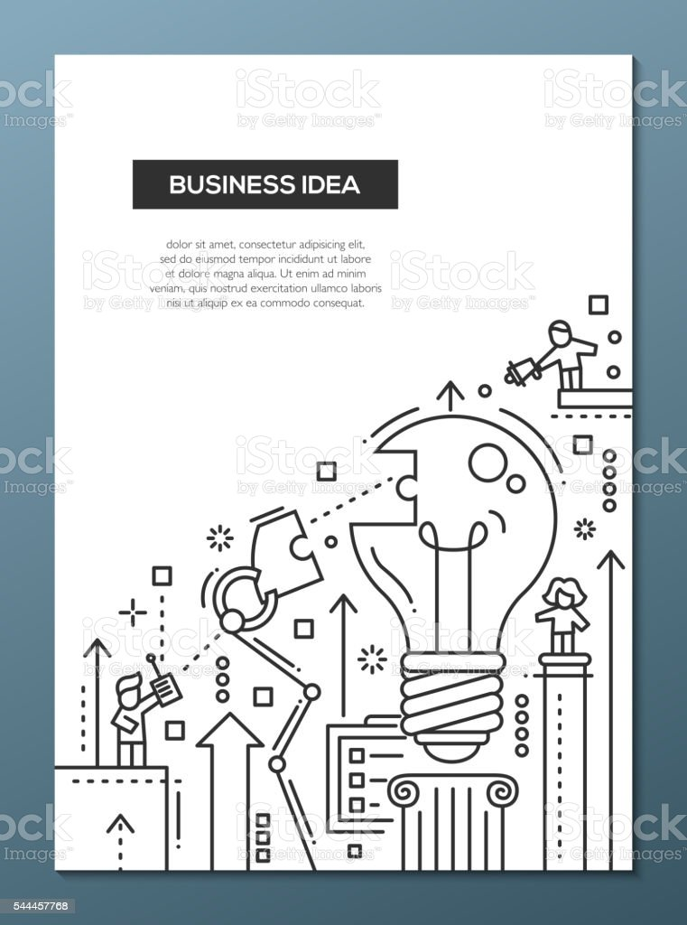 Business idea line design brochure poster template a4 stock vector business idea line design brochure poster template a4 royalty free stock vector art pronofoot35fo Gallery