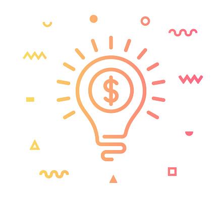 Business Idea Line Style Icon Design