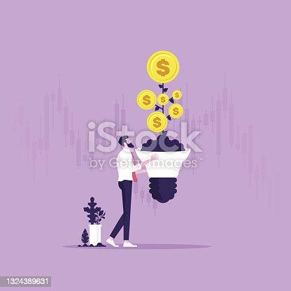 istock Business idea to make money concept 1324389631