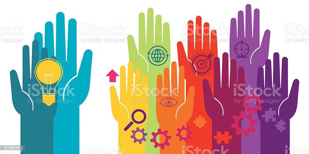 Business idea vector art illustration