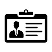 Business identity card icon. Use for commercial, print media, web or any type of design projects.