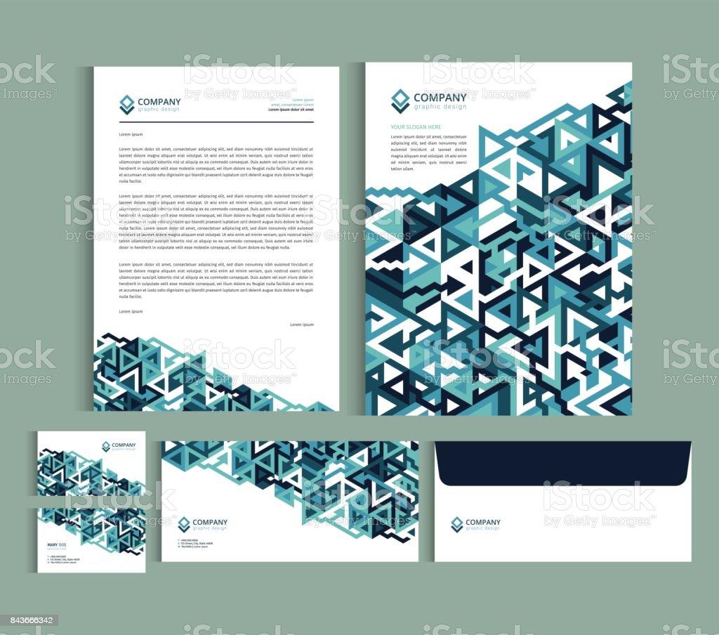 Ilustración de Plantillas De Diseño De Identidad Empresarial Sistema ...