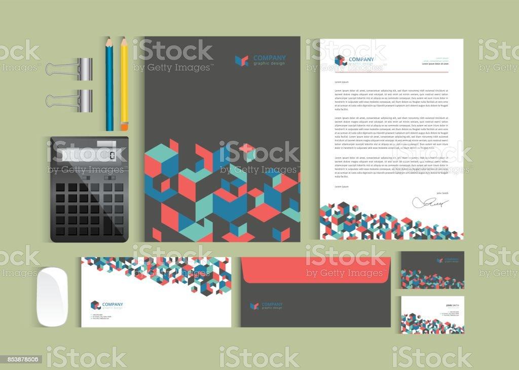 Unternehmensidentitätdesignvorlagen Schreibset Briefkopf A4 Vorlage