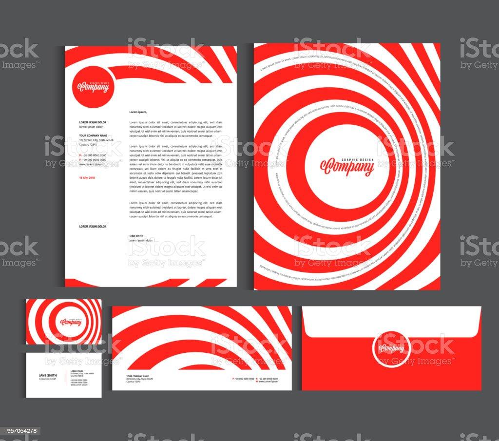 Ilustración de Plantillas De Diseño De Identidad Empresarial Set De ...