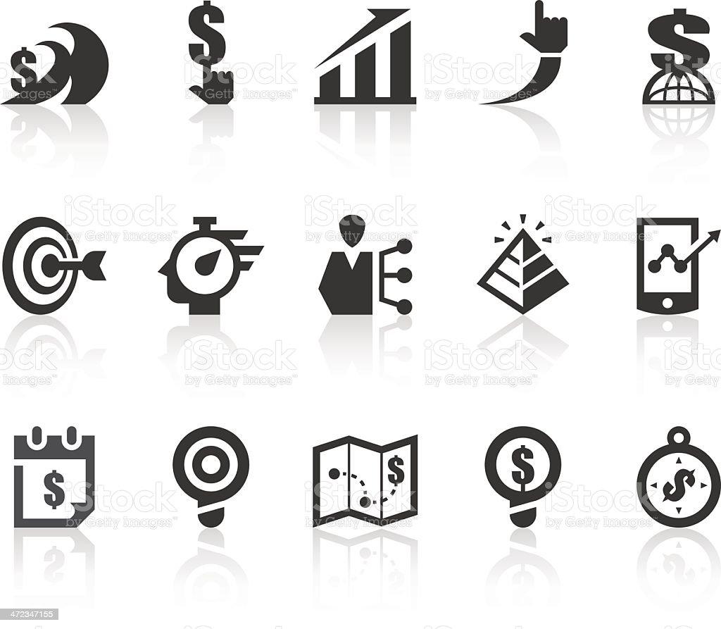 Business II Icons   Simple Black Series vector art illustration
