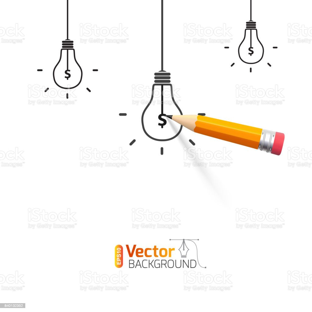Business illustration on the theme of money and attracting investment vector art illustration