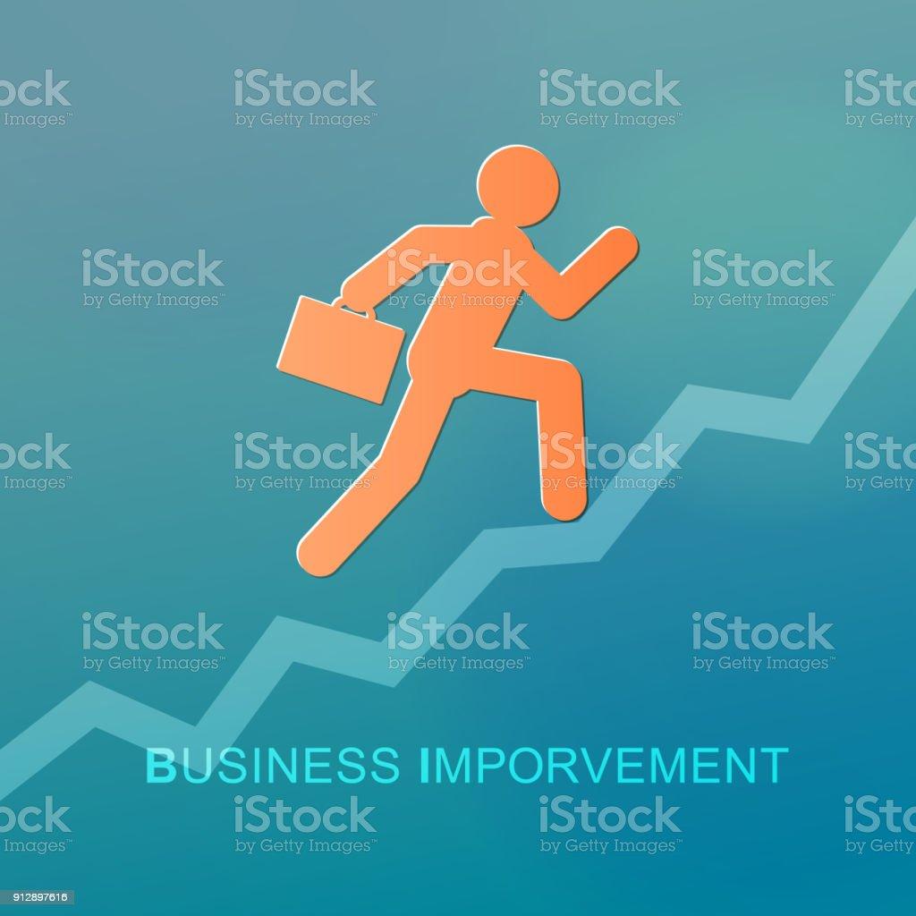 Business Improvement vector art illustration