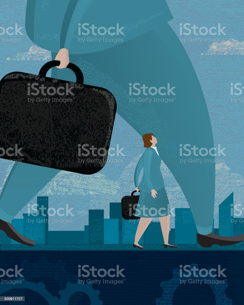 Business inequality concept vector art illustration