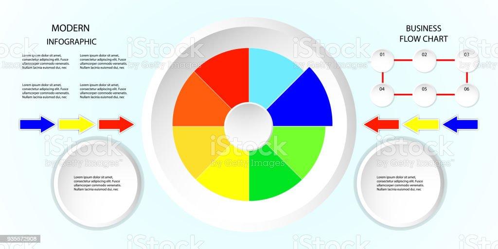 Ilustración de Diagramas De Flujo De Diseño Gráfico De Negocios ...