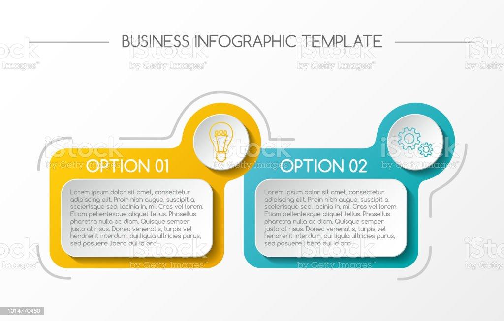 Business infograph with colorful boxes. Vector. – artystyczna grafika wektorowa