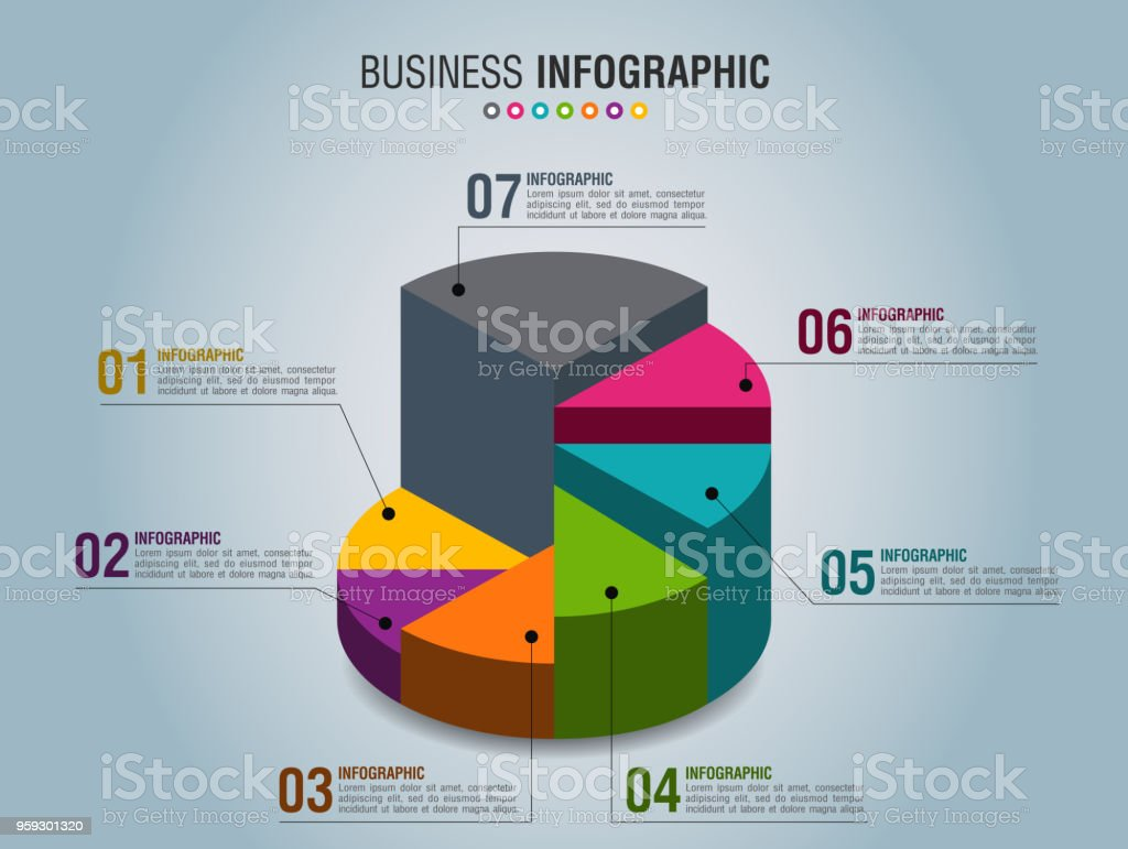 Business Infographic 1 vector art illustration