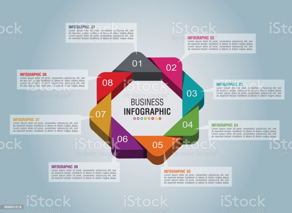 Business Infographic 2 vector art illustration
