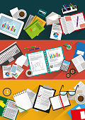 Business infographic backgrounds set