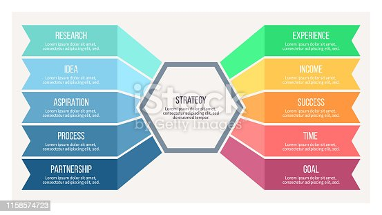 istock Business infographic. Chart of choice with 10 options. Vector template. 1158574723
