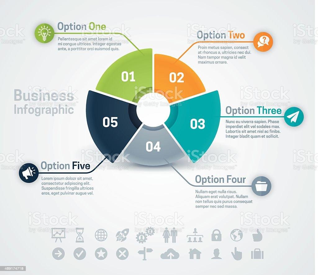 Business Infographic Chart vector art illustration
