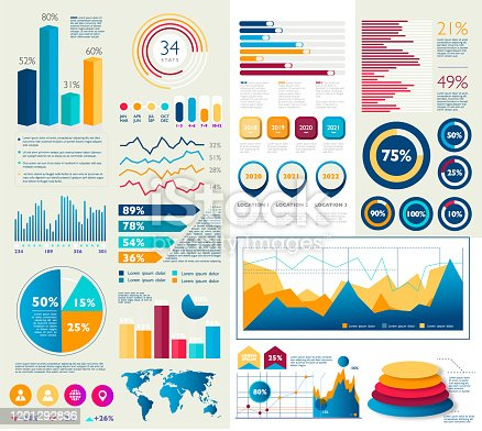 Business infographic colorful designs - Illustration