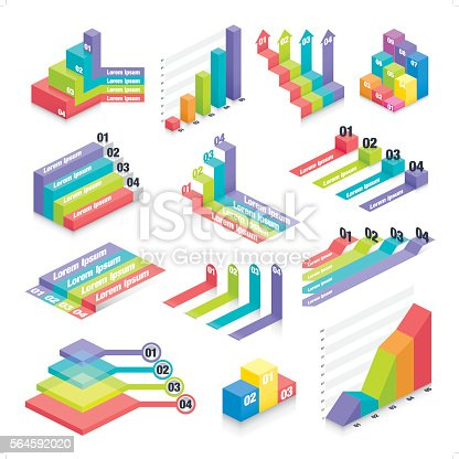A set of infographic design elements. The elements are grouped individually for ease of edibility.