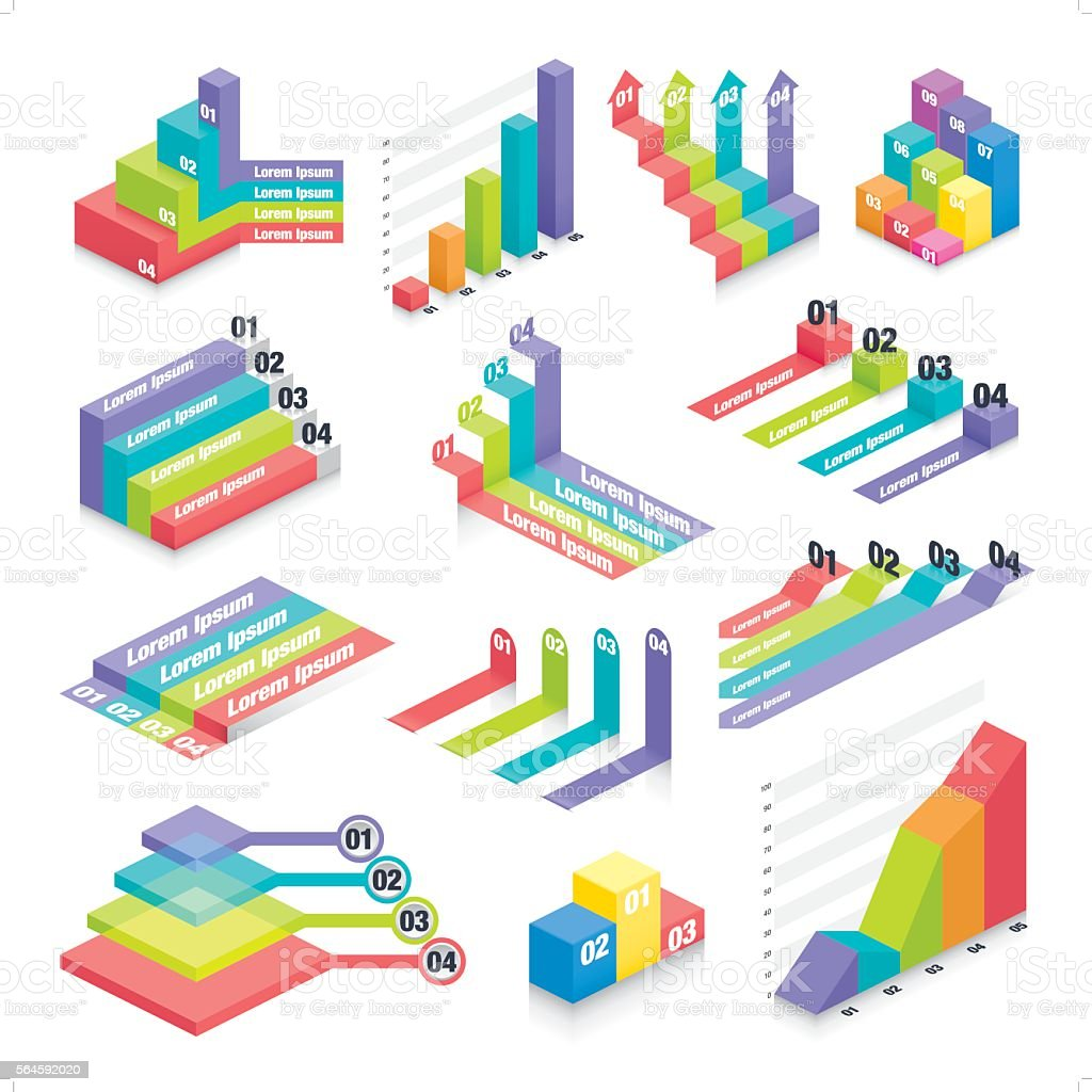 business infographic elements 2 vector art illustration
