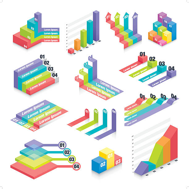 business infographic elements 2 vector art illustration