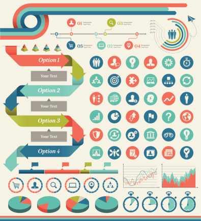 Business Infographic Elements Stock Illustration - Download Image Now