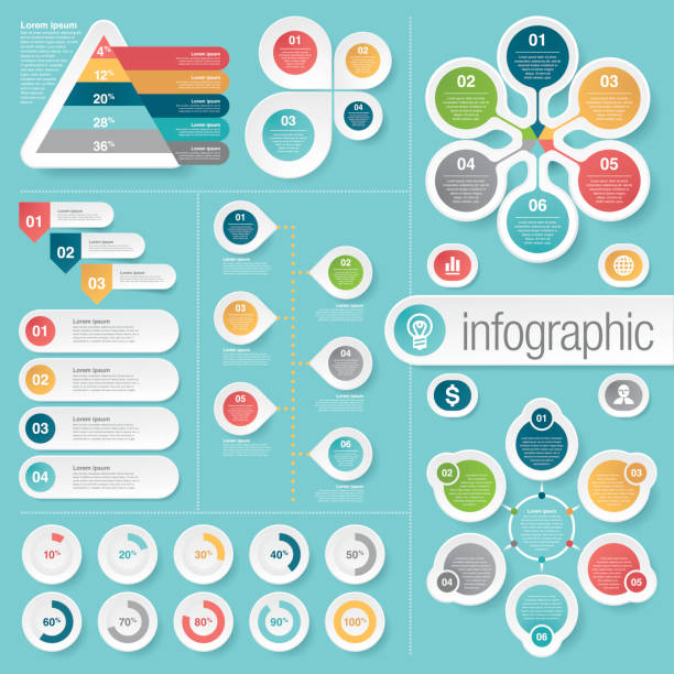 business infographic elements vector art illustration