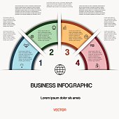 Business infographic for success project and other Your variant, vector illustration template with text areas on 4 positions