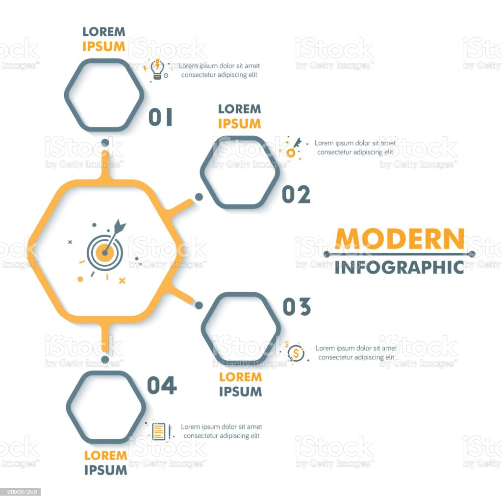 Business Infographic Template. Modern Hexagonal Infographics Timeline Design. Colorful Vector Illustration royalty-free business infographic template modern hexagonal infographics timeline design colorful vector illustration stock vector art & more images of abstract