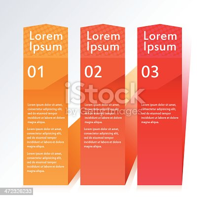Business infographic template with three options.