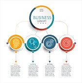 Business Infographic template, vector.