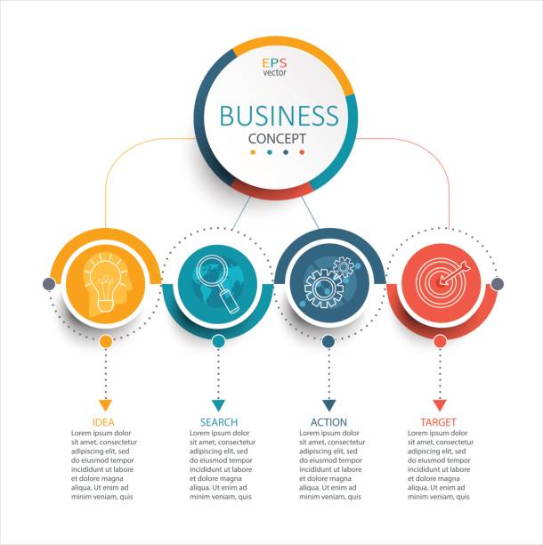 Business Infographic template, vector. vector art illustration